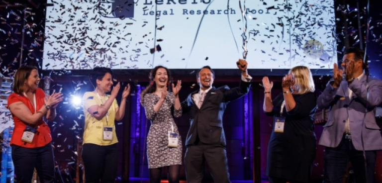 Foto winnaar Legal Tech Startup Awards